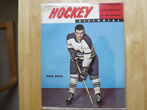 FS: 1961 Hockey Pictorial Magazine with (Dave Keon on the cover London Ontario image 1