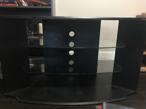 one tv table and two shelves