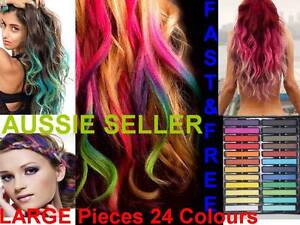 Hair-Chalk-Set-24-LARGE-Pieces-Temporary-Colour-Non-Toxic-DIY-Salon-Dye-Fun