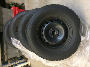 Firestone Winterforce on Rims P235/70R16. Only used one season!