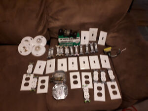 Plugs, light switches, light fixture etc