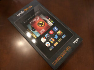 "Amazon Kindle Fire HD 7"" Tablet with Case - 100% MINT CONDITION!"