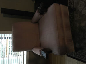 SOLID 1930'S ROSE QUALITY ARM CHAIR WITH ARM COVERS