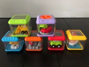 Fisher Price Peek a Blocks Stackable Toy.