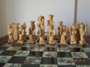 Chinese Hand Carved wooden chess case with hand carved pieces Kingston Kingston Area image 7