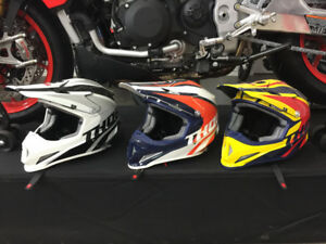 Thor dirt bike helmets 3 left only blow out 35% discount