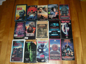 GREAT HORROR MOVIES ON VHS