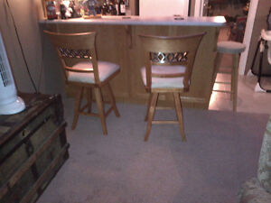 2 Maple Kitchen counter or Bar Stools (half price)