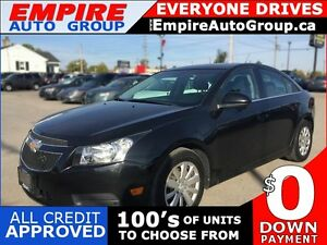 2011 CHEVROLET CRUZE 1LT * SUNROOF * PREMIUM CLOTH SEATING * POW