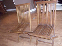 Wooden Chairs/Folding