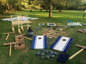 Lawn Games used for outdoor wedding