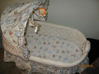 Baby Bassinet with storage and wheels