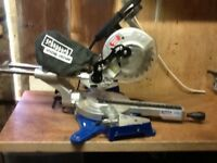Scheppach 1500w compound slide mitre chop saw