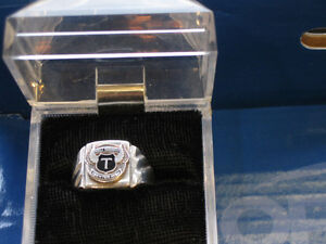 A BEAUTIFUL STERLING SILVER TRENTON HIGH SCHOOL RING...SIZE 8