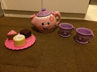 Leap frog picnic set and fisher price tea party set