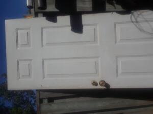 EXTERIOR DOOR WITH HINGES