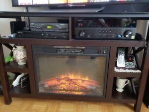 Electric fireplace and TV stand