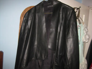 eclipse faux leather jacket