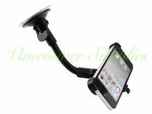 Car Mount Swivel Holder Stand for iPhone5 and 5S Black Suction