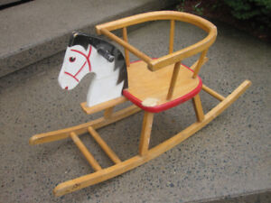 Vintage Children's Wooden Rocking Chair/Horse