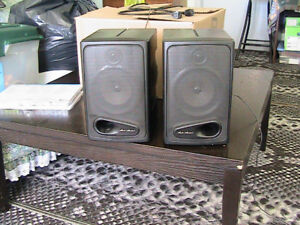 Two small speakers $10