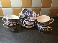 Assorted WILLOW pattern CHINA - the lot