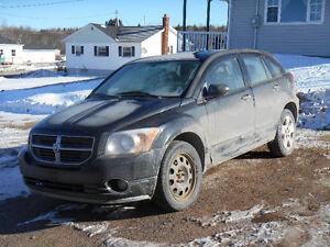 2008 Dodge Caliber black Wagon