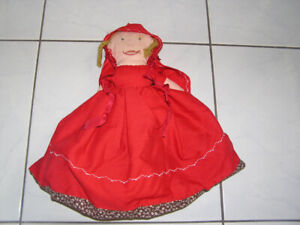 LITTLE RED RIDING HOOD & THE BIG BAD WOLF REVERSIBLE DOLL