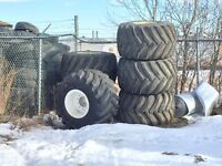 6 Floater Tires with Rims - Prime X Terra Turbo 48x31.00-20