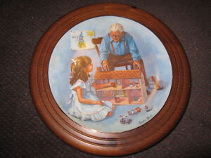 "Sandra Kuck ""Grandpa & the Doll House"" - Framed - $35.00"