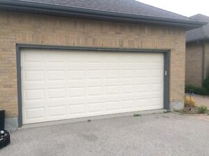 16' (wide) x 7' (high) Non-insulated Garage Door for Sale Cambridge Kitchener Area image 1