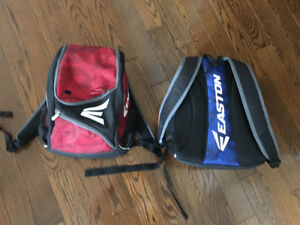 Two Easton Youth Bat Packs like new condition for sale