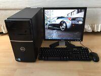 Dell Vostro 220 Full Desktop PC, Excellent Condition With Office 2010 & ATI Radeon HD 3450 Graphics