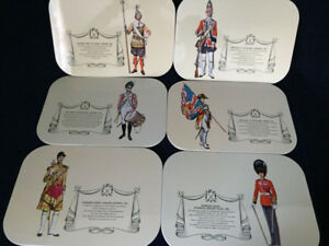 Vintage Place mats Of British Military Guards History 1660-1960