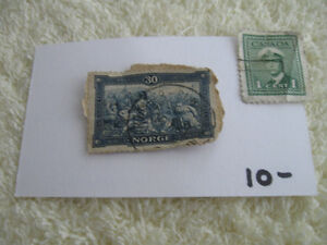 2 OLD VINTAGE POSTAGE STAMPS for the AVID COLLECTOR