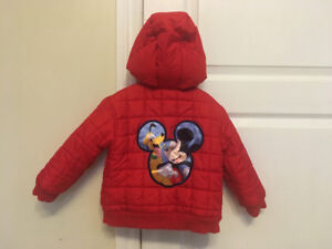 Disney size 2T puffy fall/winter coat