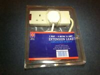 MAINS EXTENSION LEAD - TWIN 13amp SOCKET