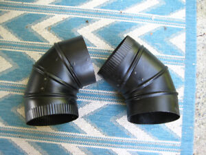 Woodstove adjustable elbow pipes