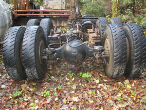 Tandem axles and suspension