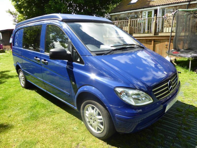 Mercedes Benz Vito 111 CDi Compact 4 Berth Pop Top Camper Van For Sale Ref