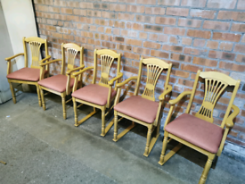 Set of 5 carver chairs