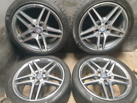 18 inch Genuine Staggered Mercedes E Class W212 alloy wheels