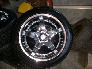 22 inch rims and tires 5 bolt 4.5""