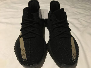 Adidas Yeezy Boost 350 V2 Black/Green - Size 8.5