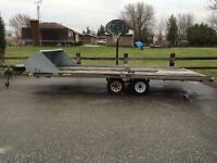 Hyland snowmobile four place trailer