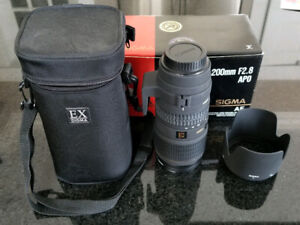 Sigma EX 70-200mm f2.8 EX APO HSM lense for Canon DSLR