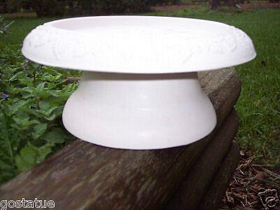 Mini birdbath riser stand mold plaster concrete -