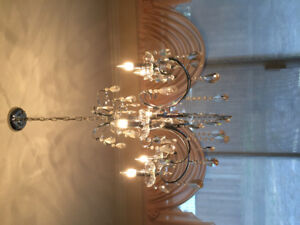Crystal lighting fixture for dining room.