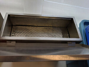 Stainless steel container Charcoal cooking/Smoking/Storing