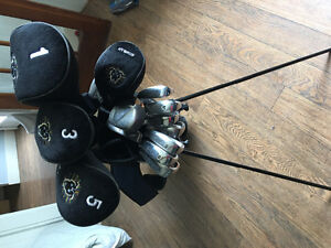 13 clubs and bag